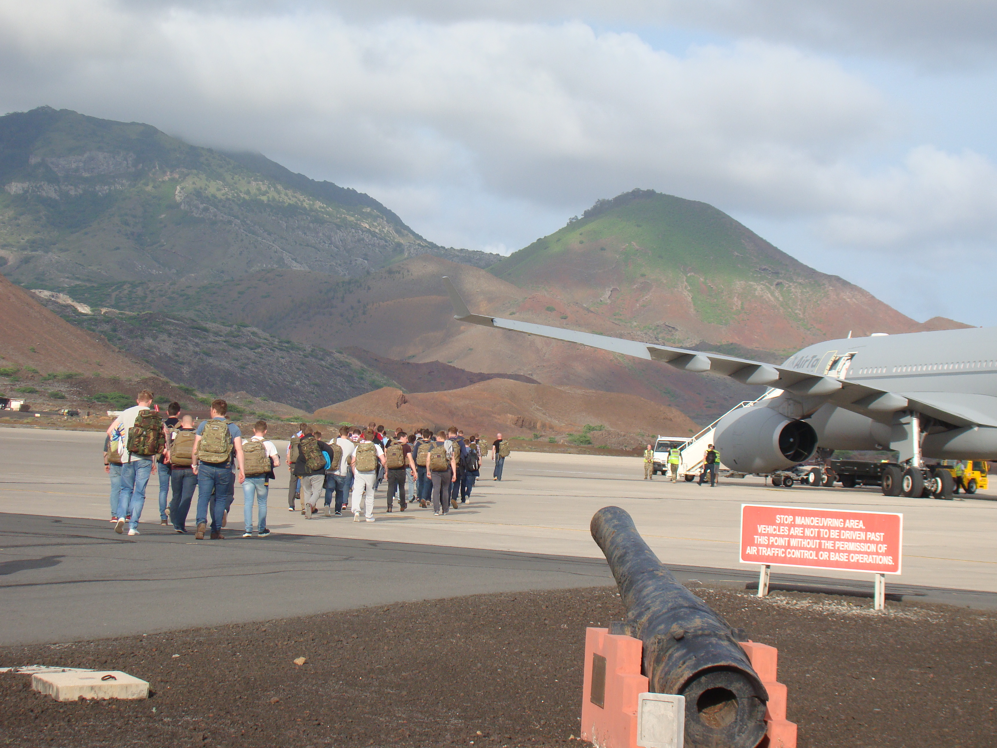 how to fly to ascension island