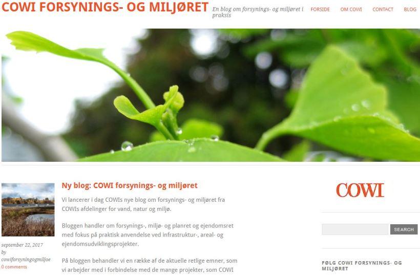 Ny blog om forsynings- og miljøret